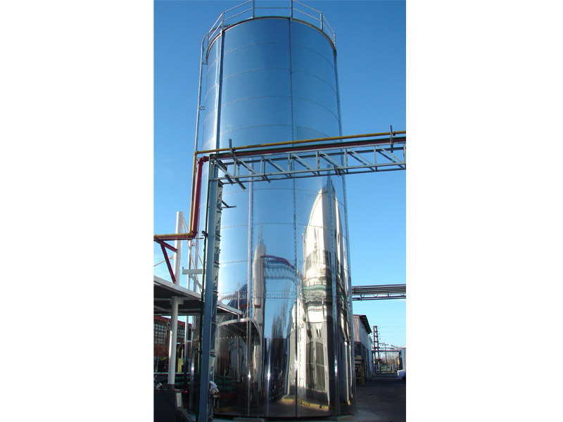 Silo modular acero inoxidable 250 toneladas.