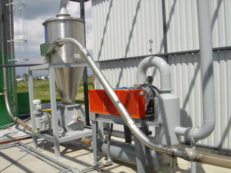 Transporte neumático succión – presión.