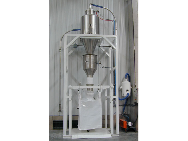 Big-bag filling station + Weighing system.
