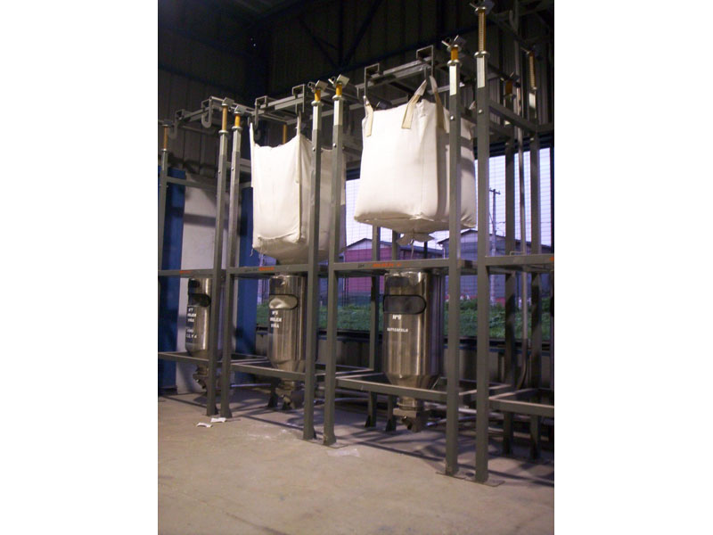Big-bags emptying station + Stretching device